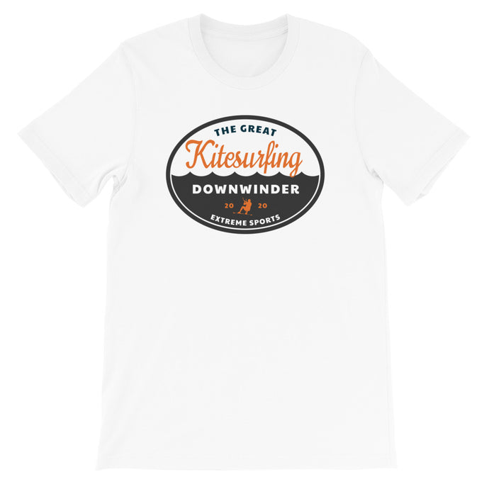 The Great Kitesurfing Downwinder - 100% cotton Kitesurfing T-shirt