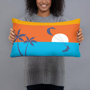Kitesurfing Sunset Cushion/Pillow