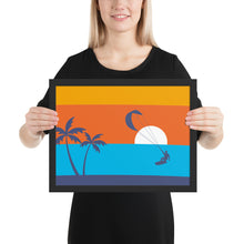 Load image into Gallery viewer, Kitesurfing sunset - framed matte paper poster