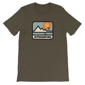 Kitesurfing Mountain Retro - 100% cotton Kitesurfing T-shirt