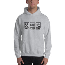 Load image into Gallery viewer, Eat Sleep Kite - Kitesurfing Hoodie