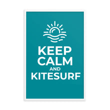 Load image into Gallery viewer, Keep Calm and Kitesurf - Framed poster