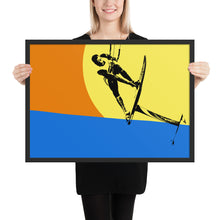 Load image into Gallery viewer, Suspended Kite Foiler - Framed matte paper poster
