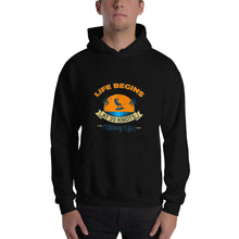Load image into Gallery viewer, Life Begins at 20 Knots - Kitesurfing Hoodie
