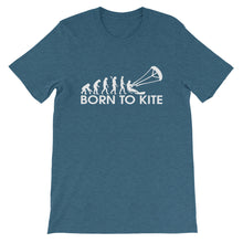 Load image into Gallery viewer, Born to Kite Evolution - 100% cotton Kitesurfing T-shirt