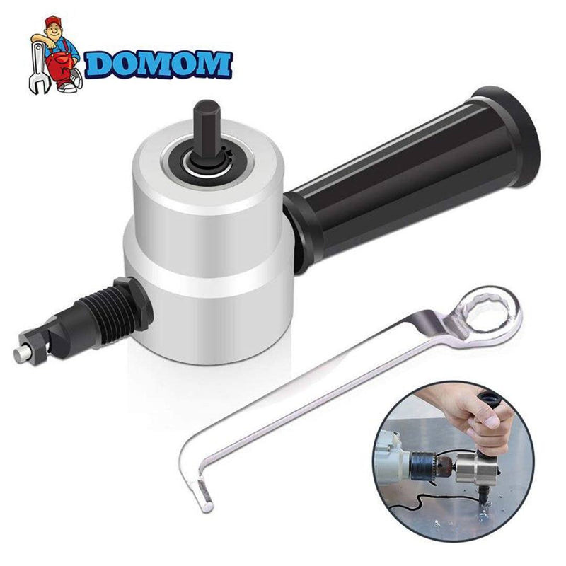 DOMOM Zipbite - Nibbler Cutter Drill Attachment Double Head Metal Sheet