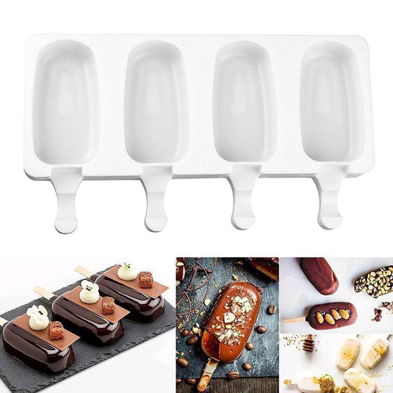 Silicone Easy Cream Mini Ice Cream Bar Mold Set