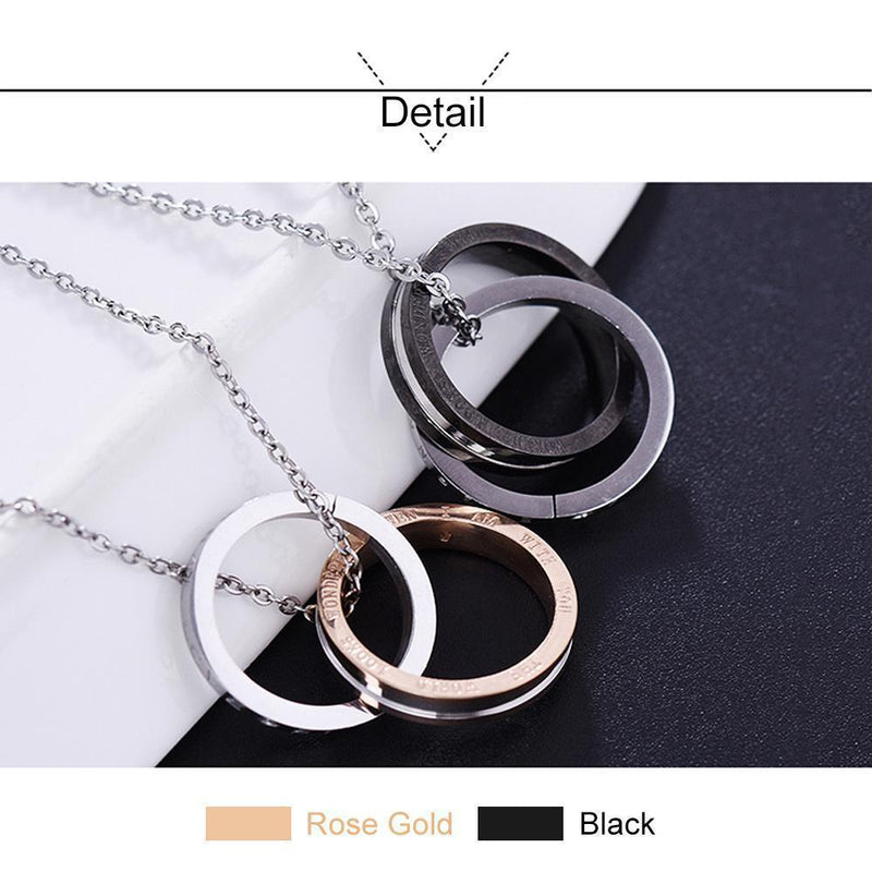 Eternal Love Titanium Steel Couple Necklace
