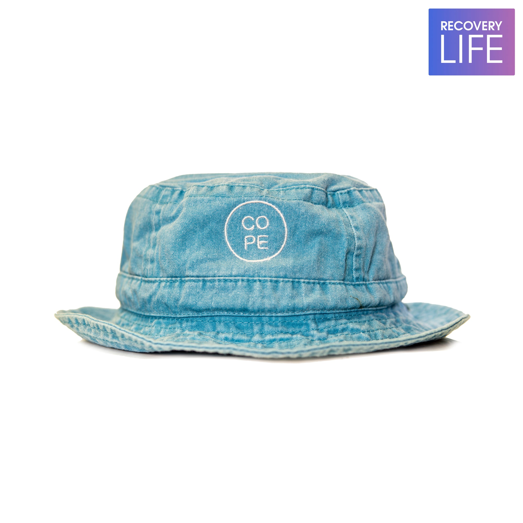 Caribbean Blue Pigment dyed Cope Bucket Hat