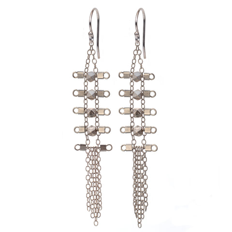 Artemis 5-Rung Earrings in Sterling Silver