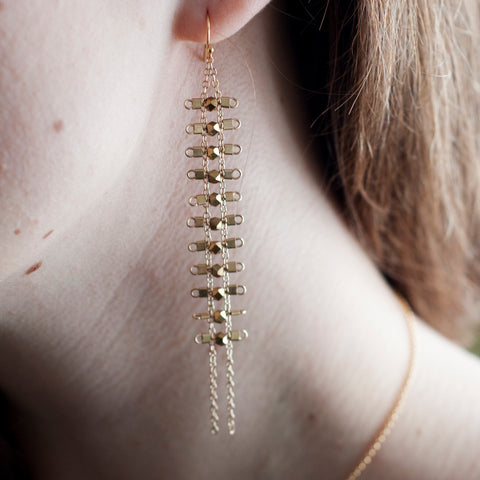 Artemis Earrings in Brass + Gold