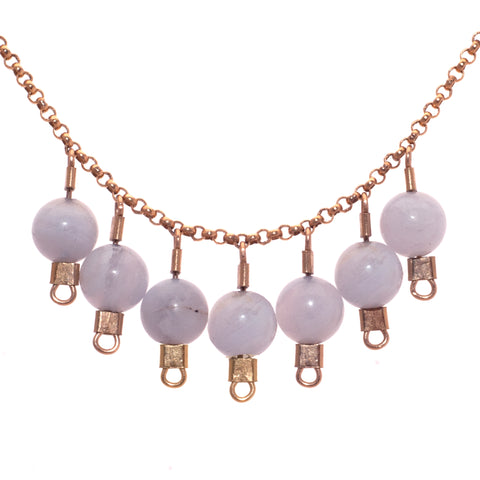 Drop Necklace in Chalcedony