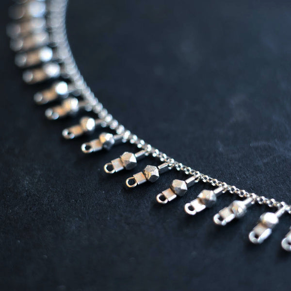 Eternity Drop Necklace in Sterling Silver