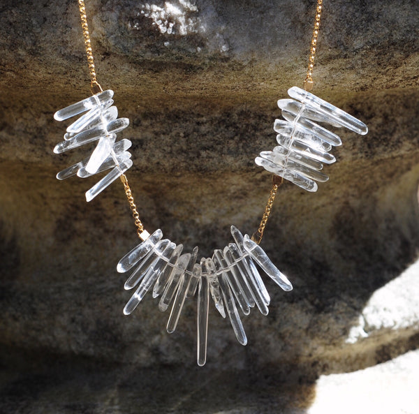 Etoile Necklace in Crystal Points