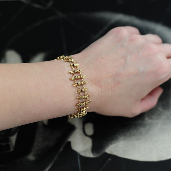 Florence Bracelet in Brass + Gold