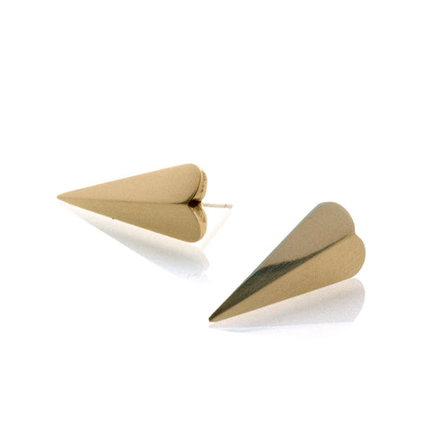 Little Dagger Earrings in Brass