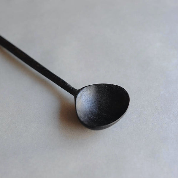 Fan Spoon in Oxidized Butternut