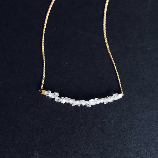 Strand Necklace in Herkimer Crystal