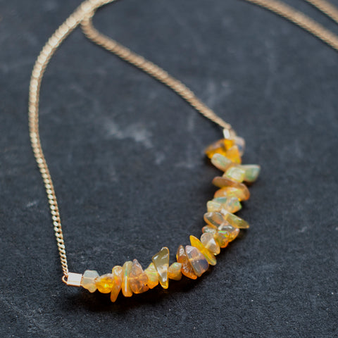 Strand Necklace in Ethiopian Opal