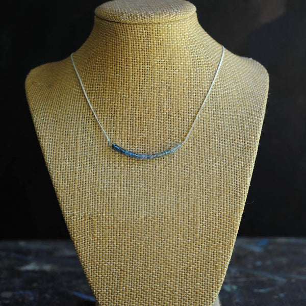 Strand Necklace in Moss Aquamarine