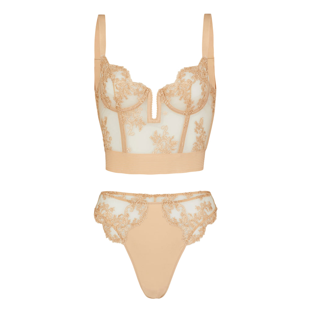 Oat Bustini - Coutille Better than nude® lingerie capsule. Luxury lingerie focussed on bringing craftsmanship, quality and finesse to nude lingerie.