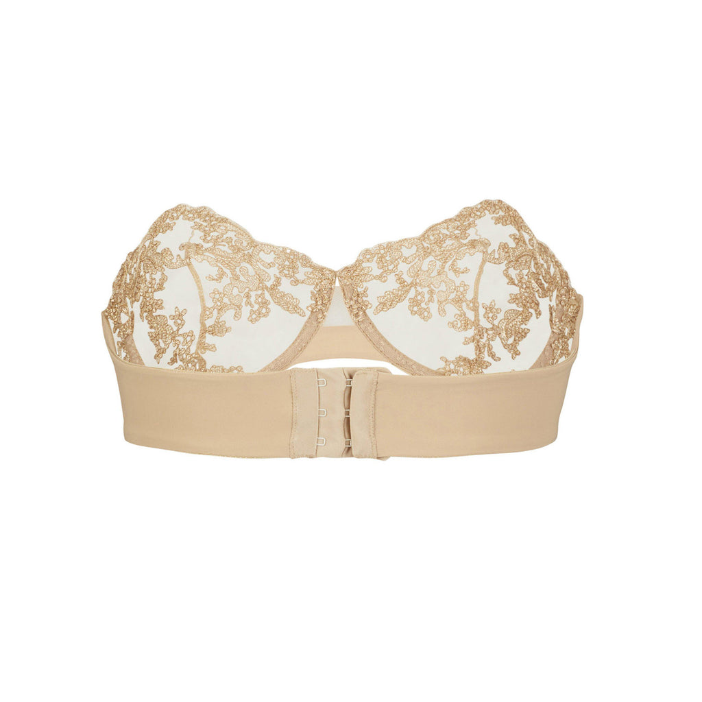 Oat Clam Bra-Strapless Balcony Bra-Coutille