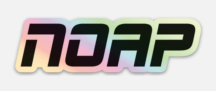 Holographic NOAP sticker
