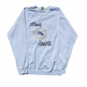 "White ""What We Learn"" Crewneck"