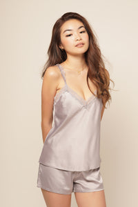 JANE CAMI & SHORT SET Lavender Grey