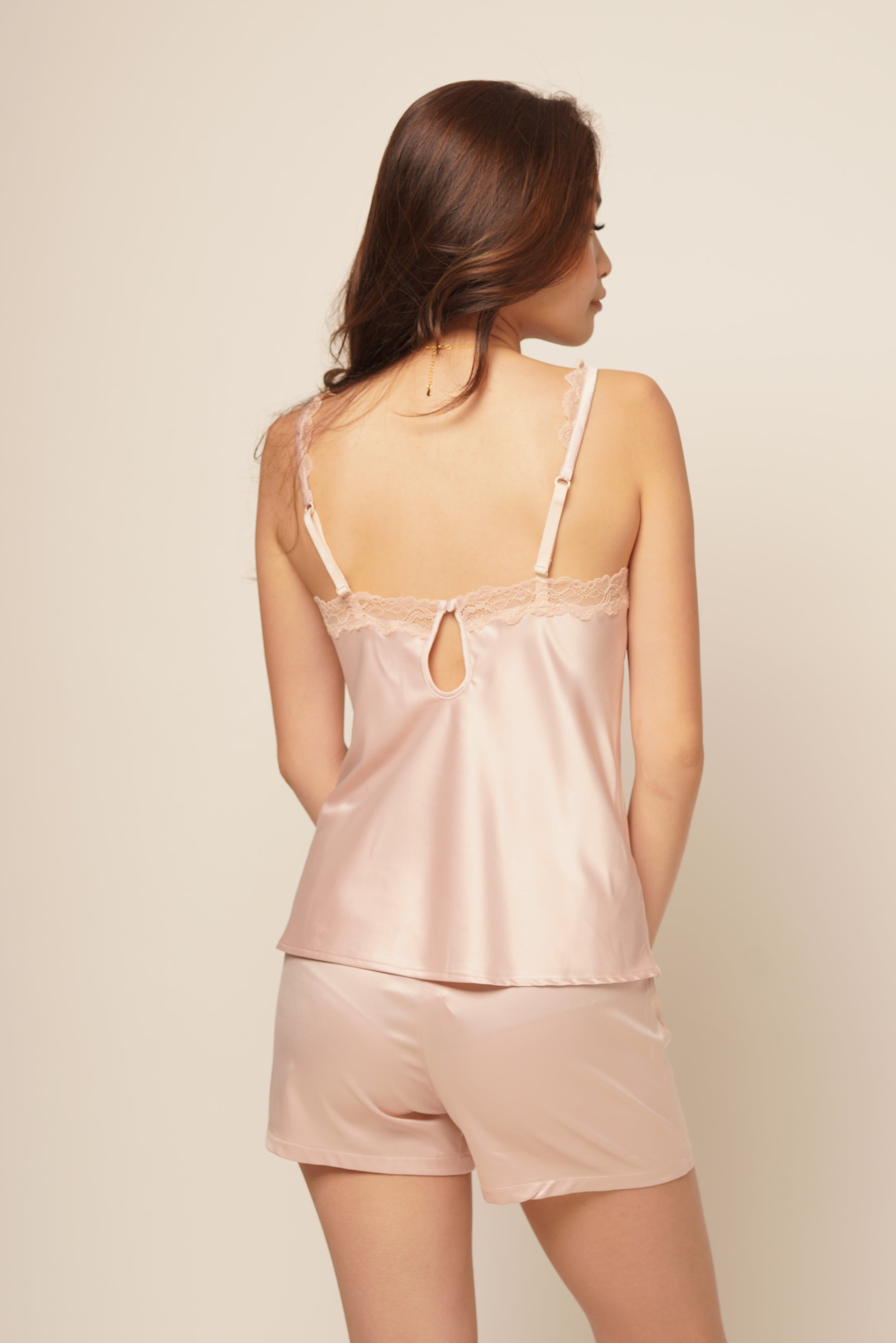 JANE CAMI & SHORT SET Champagne pink