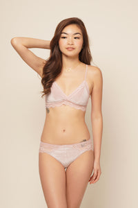 BELLA BRALETTE SET Blush Pink