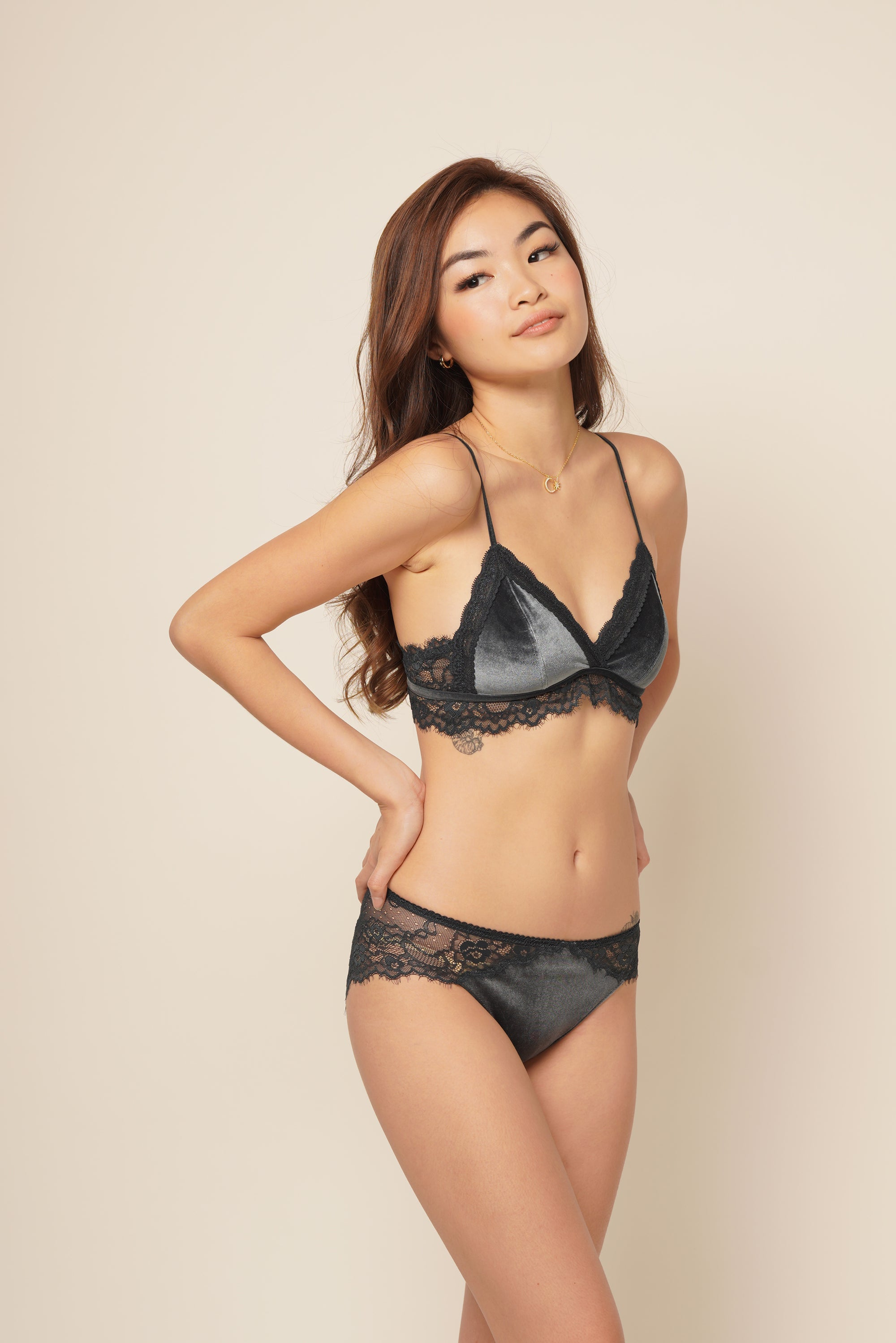 BELLA BRALETTE SET Midnight Blue