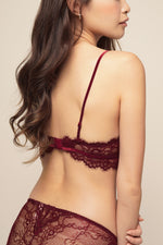 BELLA BRALETTE SET Burgundy