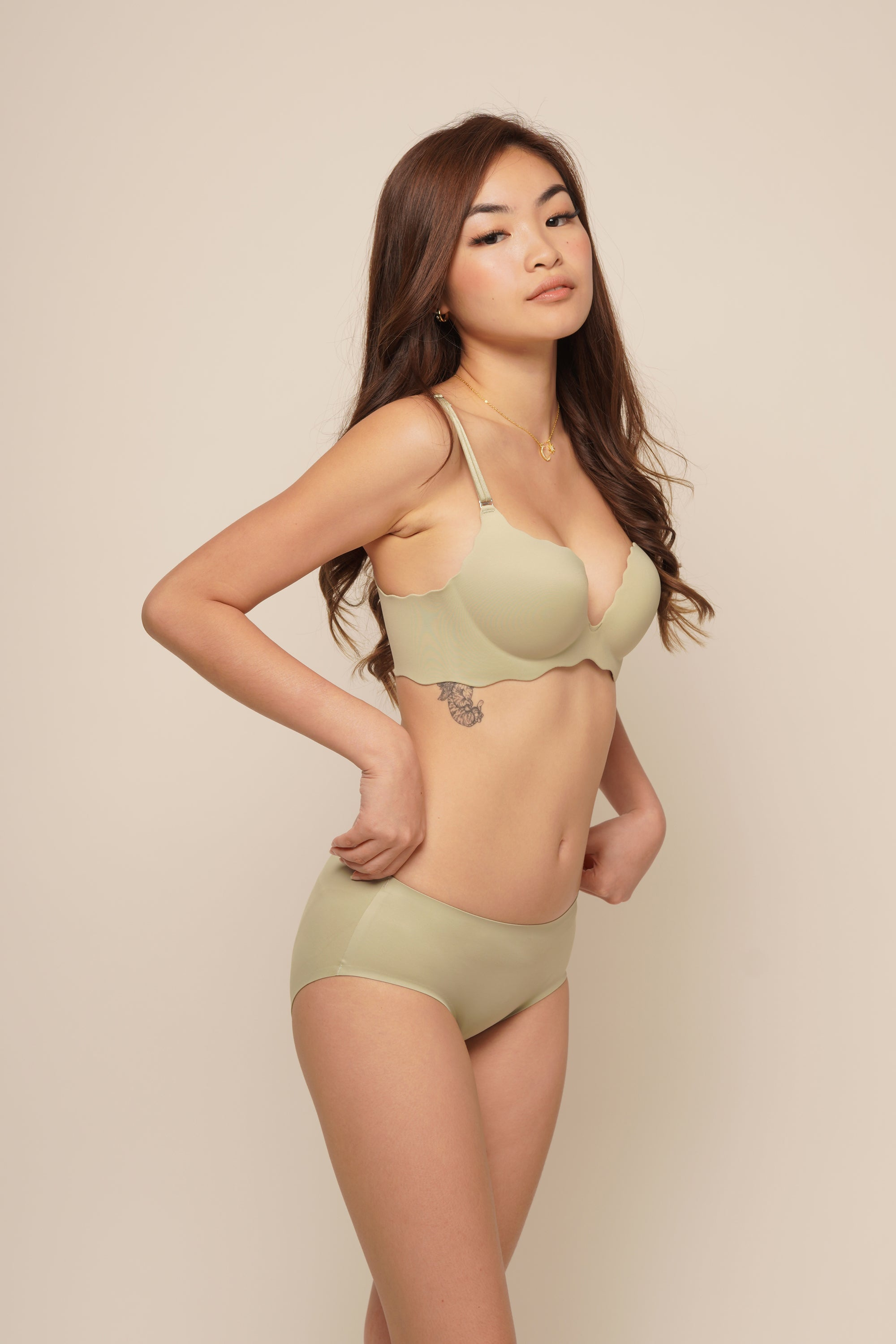 ELLIE SEAMLESS PUSH UP SET Avocado
