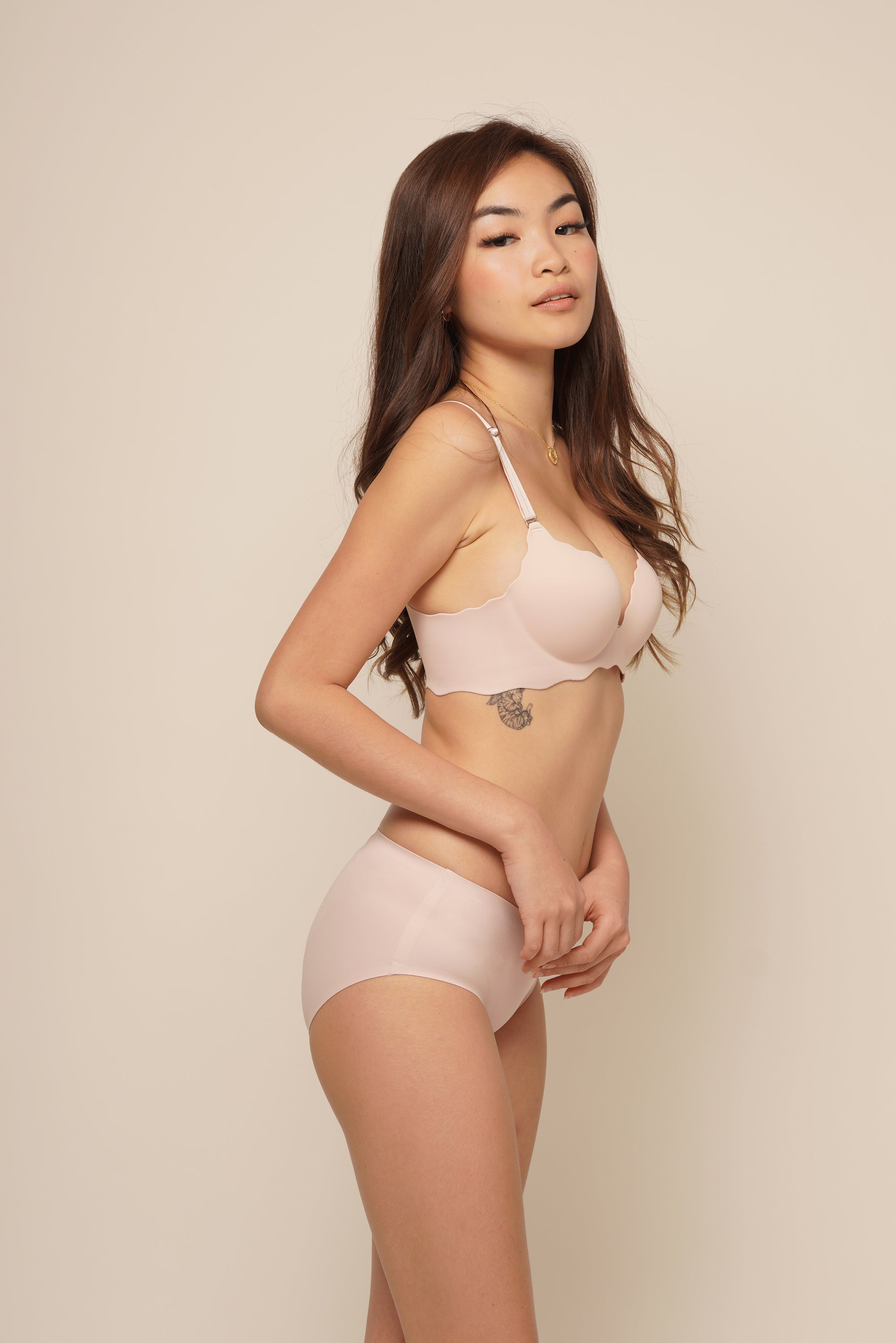 ELLIE SEAMLESS PUSH UP SET Blush Pink