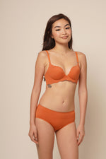 ELLIE SEAMLESS PUSH UP SET Tangerine