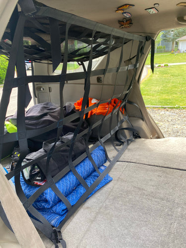 4 Runner 4th or 5th Gen WITH MOLLE PANELS Rear Barrier Net
