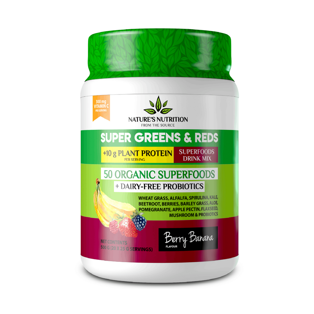 Natures Nutrition - Berry Banana Superfoods Drink Mix