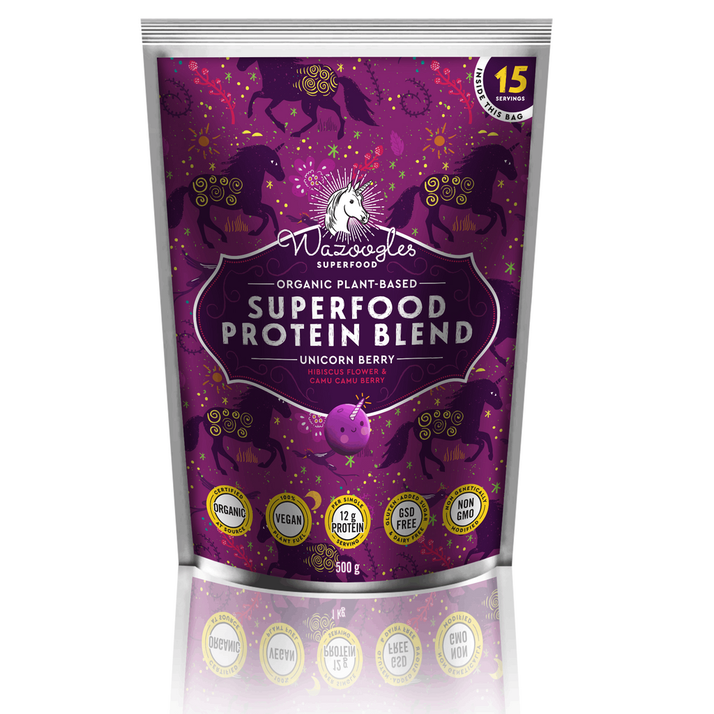 Wazoogles Superfood | Unicorn Berry Protein Blend