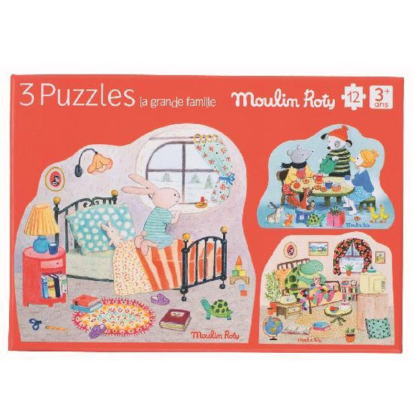 Big Family - Puzzle Set of 3