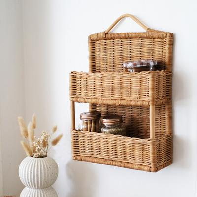 Rattan Hello Hanging Shelf