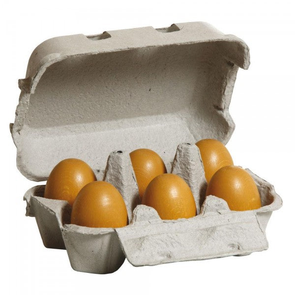 wooden Brown Eggs set