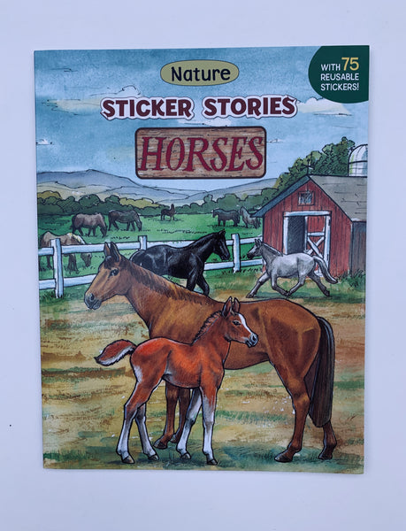 Horses nature sticker stories