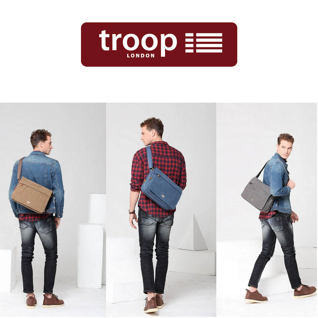 Troop London - The Finest Canvas Leather Bag