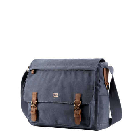 TRP0207 Troop London Classic Canvas Laptop Messenger Bag - Troop London