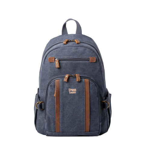 TRP0256 Troop London Classic Canvas Backpack - Medium - Troop London