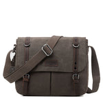TRP0426 Troop London Heritage Canvas Messenger Bag, Canvas Satchel, Tablet Friendly Shoulder Bag