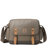 TRP0450 Troop London Heritage Canvas Messenger Bag, Travel Bag, Tablet Friendly