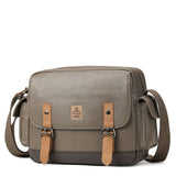 TRP0450 Troop London Heritage Canvas Messenger Bag, Travel Bag, Tablet Friendly - Troop London