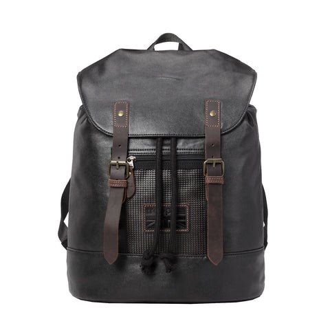 TRP0455 Troop London Heritage Canvas Laptop Backpack, Smart Casual Daypack, Tablet Friendly Backpack